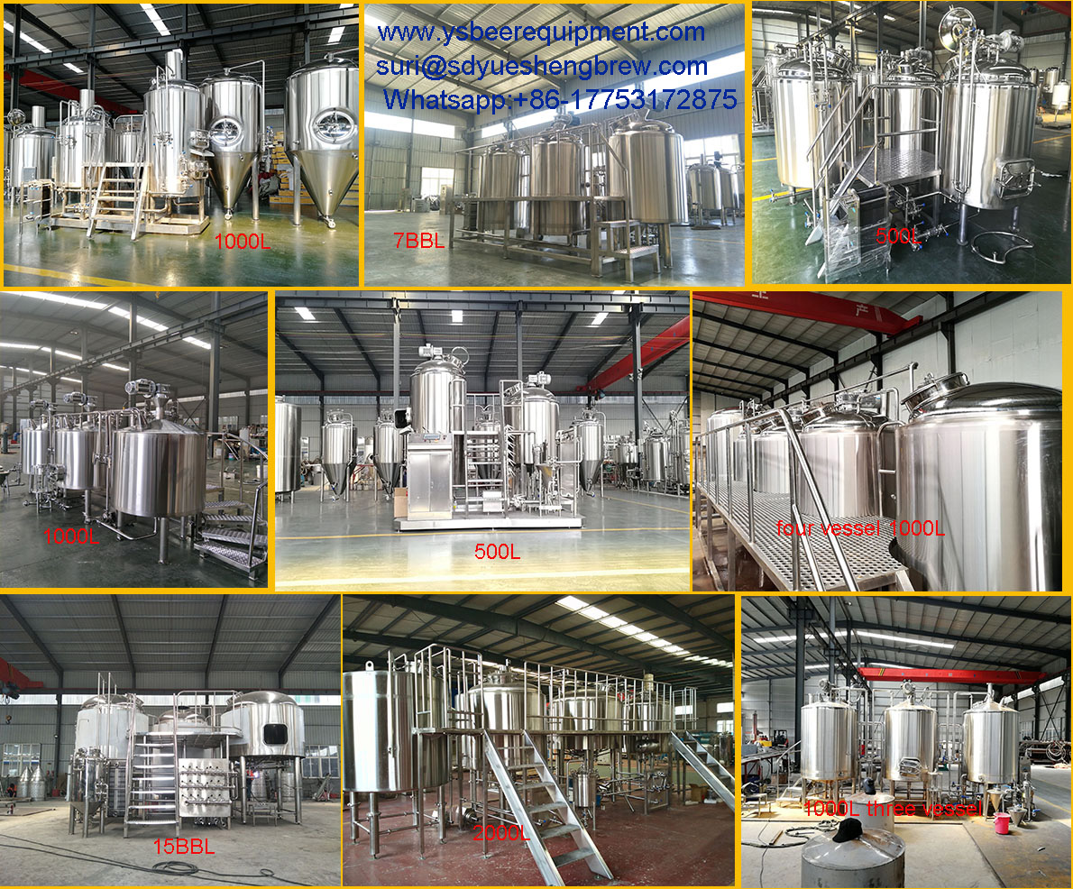 Commercial Beer Brewing Equipment 50BBL/5000L/100HL Brewery Equipment